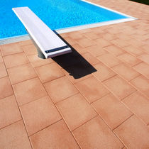 engineered stone tile for poolside SILIGRANITI SABBIATI IMPREGNATI MASPE PAVINGS