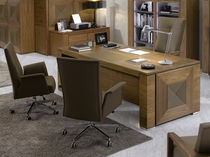traditional executive leather and wooden office desk EROS_74.75 MOBIL FRESNO