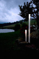 exterior contemporary stone floor lamp  JOHN HOUSHMAND