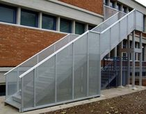 exterior quarter turn staircase for commercial buildings (metal frame and steps) UGOLINI SCHOOL - BRESCIA ALUSCALAE