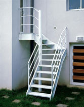 exterior quarter-turn staircase (metal frame and steps) DT8 ESCALIERS DECORS