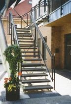 exterior quarter-turn staircase (metal frame and steps) GRA T311 Schmidt Escaliers