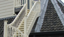 exterior quarter turn staircase with a lateral stringer (wooden frame and steps)  Accsys Technologies