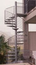 exterior spiral staircase (metal frame and steps) 72 S STAIRWAYS inc
