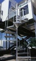 exterior spiral staircase (metal frame and steps) 72 HDKD STAIRWAYS inc