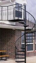 exterior spiral staircase (metal frame and steps) 60 S STAIRWAYS inc