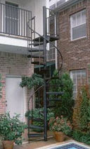 exterior spiral staircase (metal frame and steps) 48 SKD STAIRWAYS inc