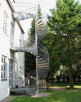 exterior spiral staircase (metal frame and steps)  Kevala Stairs Limited