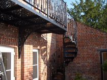 exterior spiral staircase ( wrought iron frame and steps) VT/22/1 Cast Spiral Stairs