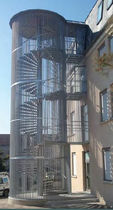exterior spiral staircase for commercial buildings CAGES ECUREUIL GANTOIS Industries