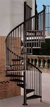 exterior spiral staircase (metal frame and steps)  Stair Plan