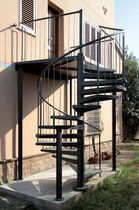 exterior spiral staircase (metal frame and steps) CAMELIA ZINC New Living srl
