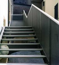 exterior straight staircase for commercial buildings HISTORICAL BUILDING ALUSCALAE