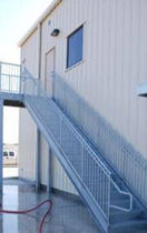 exterior straight staircase for commercial buildings  STAIRWAYS inc