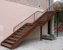 exterior straight staircase FYN essegi scale