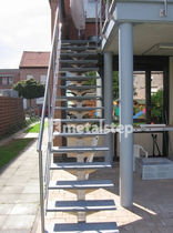exterior straight staircase SCALA metalstep