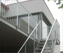 exterior straight staircase for commercial buildings  KELLER TREPPENBAU AG