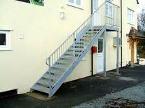 exterior straight staircase for commercial buildings THE MELVERLEY Pear Stairs