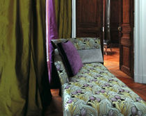 fabric for upholstery in cotton TULIPE  VEREL DE BELVAL