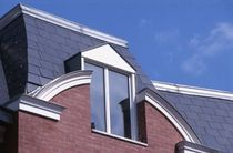 fiber-cement roofing (slate imitation) KERGOAT Eternit
