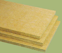 fire-resistant rigid rockwool insulation panel (thermal and acoustic) ALPHALENE 50 ISOVER SAINT-GOBAIN