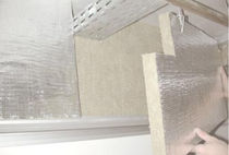 fire-resistant semi-rigid rock wool insulation panel (thermal and acoustic) ACOUSTIMASS Rockfon