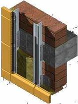 fixing system for ventilated facade HORIZONTAL (S.A.H) FAVETON