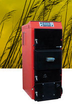 floor standing wood burning boiler (logs) COMBIPACK MET MANN