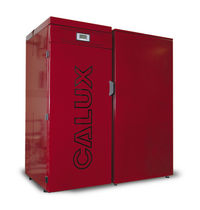 floor standing wood pellet boiler SINTESI 27 kW Calux Srl