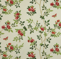 flower cotton fabric PAVILION TREE: ROSE CHINOISE Colefax & Fowler