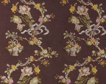 flower lampas fabric MARIE ANTOINETTE  CREATIONS METAPHORES