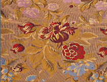 flower lampas fabric CHENONCEAU CREATIONS METAPHORES