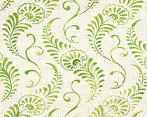 flower linen fabric MAIDEN FERN Nomi Fabrics