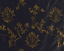 flower silk fabric GILT ROSE Nomi Fabrics