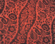 flower silk fabric MONTESQUIEU VEREL DE BELVAL