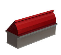 fold down mini parking barrier TITANO340 L1000 H500 MAC srl