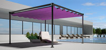 freestanding aluminium pergola (sliding canvas cover) LEAF Shadelab