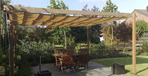freestanding wooden pergola (sliding canvas cover) COOLFIT Nesling BV