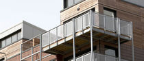 galvanized steel balcony by RHWL Architects Hubbard