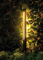 garden bollard light FOR M: SQUARE TUBE by A.Parisotto, M.Formenton & M.Nanni Viabizzuno