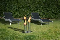 garden central fireplace (bioethanol open hearth) PIPES Bio-Blaze