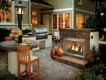 garden closed gas fireplace DAKOTA QUADRA-FIRE