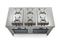 gas range cooker 52/30 2GG e 52/30 2GR ALPES-INOX