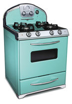 gas range cooker 1955 ROBIN'S EGG BLUE Elmira Stove Works