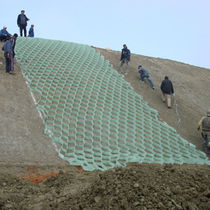 geocomposite for steep slope stabilisation ALVEOTER® AFITEX