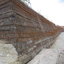geogrid for retaining wall TENSARTECH TR2 SYSTEM Tensar International