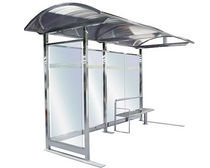 glass and metal bus shelter IRIS : MA02-1 Benito