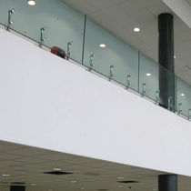 glass and stainless steel railing MINERVA by Roberto Volpe FARAONE Srl
