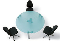 glass boardroom round table SWAY by Uberto Facchini Arlex
