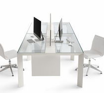 glass boardroom table KOY by O. e G. Buratti Gallotti&Radice